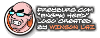 "Freyburg.com ""Angry Head"" logo character created by Winson Lai"